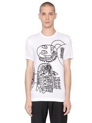 Comme Des Garcons Noah Lion Printed Cotton Jersey T Shirt