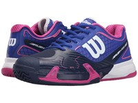Wilson Rush Pro 2.0 Blue Iris Navy Fiesta Pink Women's Tennis Shoes