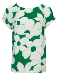 Phase Eight Frances Blouse Palm Green Ivory