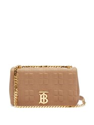 Burberry Lola Small Quilted Leather Shoulder Bag Beige