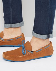London Brogues Driving Loafers Tan