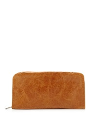 Hobo Eliza Leather Continental Wallet Caramel