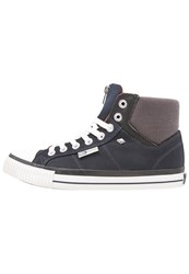 British Knights Opie Hightop Trainers Navy Dark Grey Orange Dark Blue