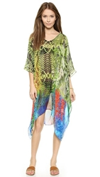 Lotta Stensson Mid Length Poncho Reptile Rainbow