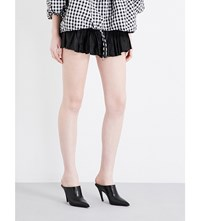 Marques Almeida Frilled Silk Mini Skirt Black