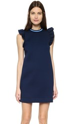 Mother Of Pearl Velma Frill Dress Navy