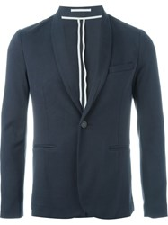 Paolo Pecora One Button Blazer Blue