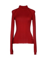 Armani Jeans Turtlenecks Red