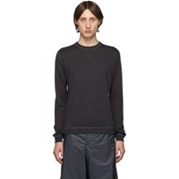 Prada Grey Wool Crewneck Sweater