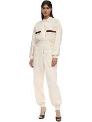 Gucci Long Cargo Canvas Jumpsuit White