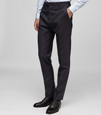 Reiss Denza T Wool And Silk Trousers In Blue Mens