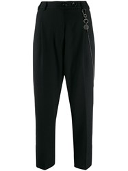 Song For The Mute High Waisted Chain Detail Trousers Black