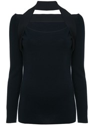 Dion Lee Inter Layer Fine Knit Sweater Blue