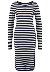 Sisley Jumper Dress White Blue