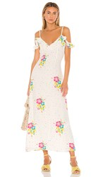 All Things Mochi Joy Dress In White. White Multi Floral