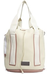 Adidas By Stella Mccartney Grosgrain Trimmed Neoprene Tote White