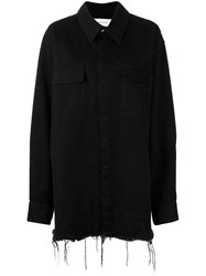 Marques Almeida Marques'almeida Long Denim Jacket Black