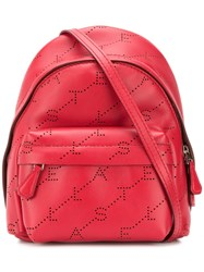 Stella Mccartney Mini Monogram Backpack Red