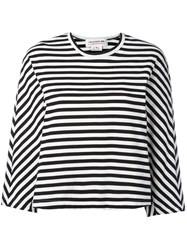 Comme Des Garcons Girl Striped Long Sleeve T Shirt Women Cotton L Black