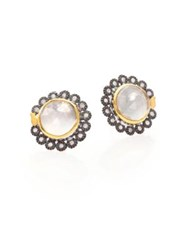 Coomi Silver Opera Diamond Crystal 20K Yellow Gold And Sterling Silver Stud Earrings