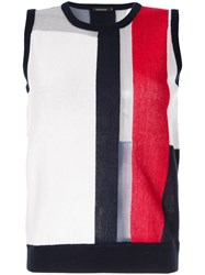 Loveless Colour Block Knitted Top Multicolour