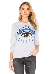 Kenzo Embroidered Eye Pullover Grey