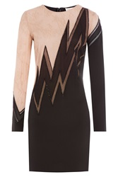 Emilio Pucci Embellished Silk Dress With Lace Multicolor