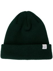 Norse Projects Knitted Beanie Hat Green