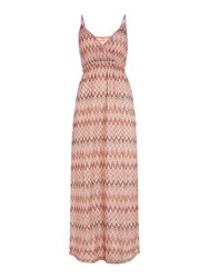 Lipsy Zig Zag Maxi Dress Cover Up Multi Coloured