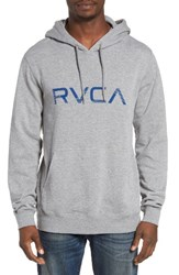 Rvca Men's Shade Graphic Hoodie Grey Noise