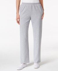Alfred Dunner Petite Sweet Nothings Pull On Pants Silver