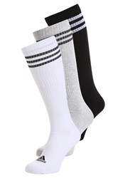 Adidas Performance 3 Pack Sports Socks White Black Grey
