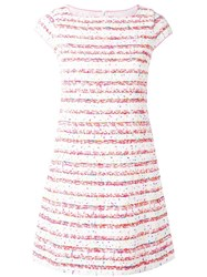 Boutique Moschino Boucle Mini Dress Pink Purple
