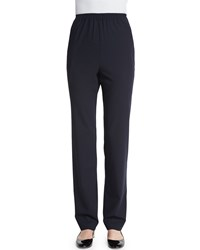 Eskandar Stretch Narrow Leg Trousers Navy