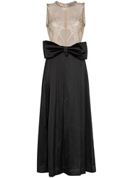 Ashley Williams Spider Web Crystal Embellished Bow Detailed Gown 60