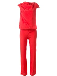 Vivienne Westwood Anglomania Hooded Jumpsuit Red