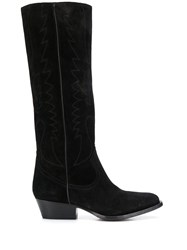 Buttero Knee Length Boots Black