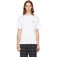 Opening Ceremony Ssense Exclusive White And Green Logo T Shirt