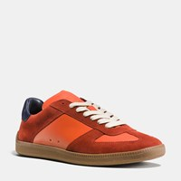 Coach C104 Sneaker Vintage Orange Navy