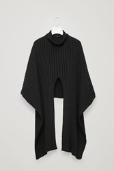 Cos Ribbed Roll Neck Scarf Black