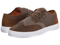 Creative Recreation Defeo Q Brown Reptile Men's Lace Up Casual Shoes