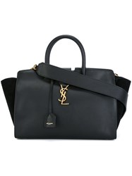 Saint Laurent Small 'Monogram Cabas' Tote Bag Black