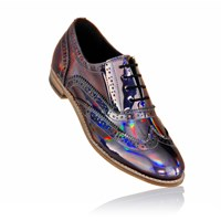 Luke Grant Muller Lady's Brogue Shoes With Holographic Finish