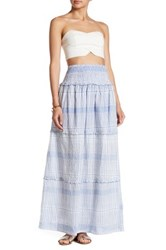 Gypsy 05 Smocked Maxi Skirt Blue