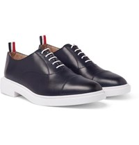 Thom Browne Cap Toe Leather Oxford Shoes Navy
