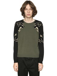 Valentino Panther Intarsia Viscose Knit Sweater