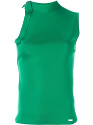 Dsquared2 Bow Detail Sleeveless Top Green