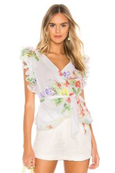 Amanda Uprichard Malin Top White