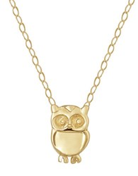 Lord And Taylor 14 Kt. Yellow Gold Owl Charm Necklace