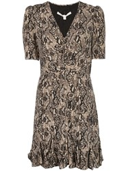 Veronica Beard Snakeskin Print Skater Dress 60